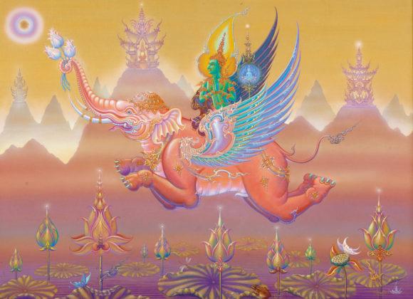 Indra at Travatimsa Heaven