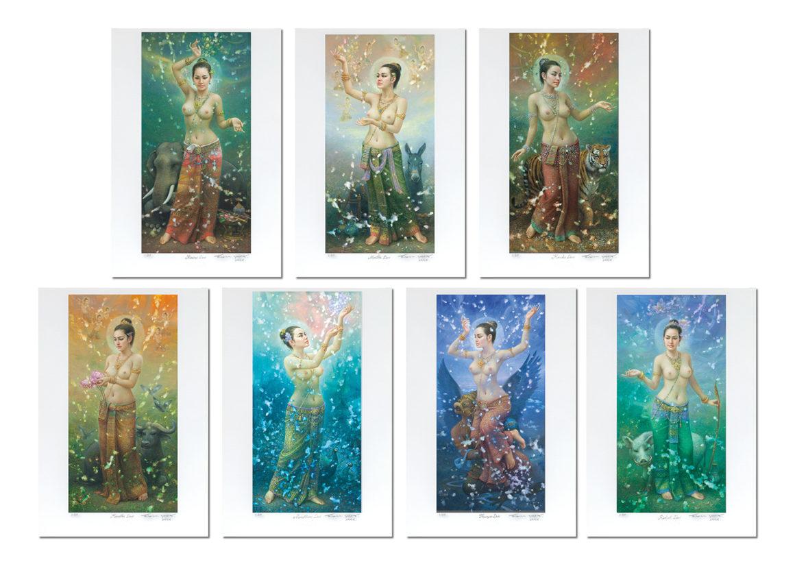 Seven Songkran Devis (Female Deities)