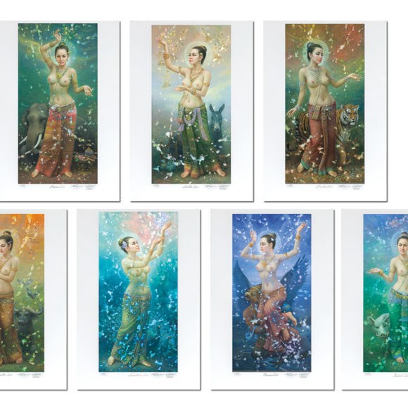 Seven Songkran Devis (Female Deities)